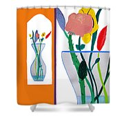 Flowers Small And Big Shower Curtain