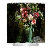 Flowers Still Life Shower Curtain