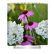 Flowers That Contrast Shower Curtain