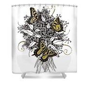 Flowers That Flutter Shower Curtain