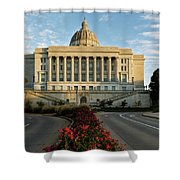 Flowers To The Capital Shower Curtain