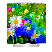 Flowers Two Shower Curtain