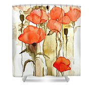 Flowers Wet Shower Curtain