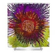 Flowerscape Thistle Shower Curtain