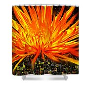 Flowersquared Shower Curtain