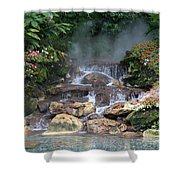 Flowery Falls At Disney Shower Curtain