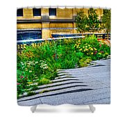 Flowery Garden On The High Line Shower Curtain