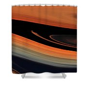 Flowing Amber Shower Curtain
