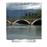 Flowing Bridge Shower Curtain