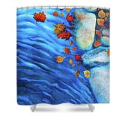 Flowing Fall Shower Curtain
