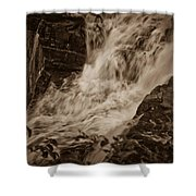 Flowing Force Shower Curtain