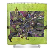 Flowing Leaves And Berries Shower Curtain