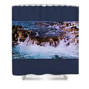 Flowing Over The Rocks Shower Curtain
