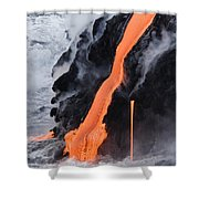 Flowing Pahoehoe Lava Shower Curtain