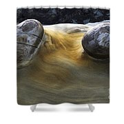 Flowing Rock 4 Shower Curtain