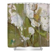 Flowing Rose Shower Curtain