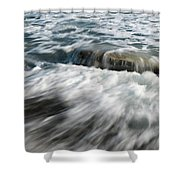 Flowing Sea Waves Shower Curtain