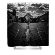 Flowing Street Of Kosice Shower Curtain