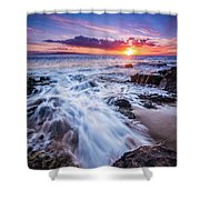 Flowing Sunset Shower Curtain