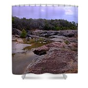 Flowing Through Time Shower Curtain