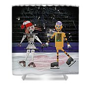 Floyd And Zoe's Skate Date Shower Curtain