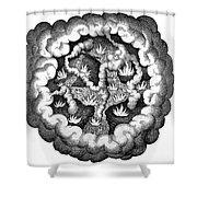 Fludds Primordial Fires, 1617 Shower Curtain
