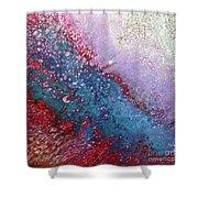 Fluid Acrylic Art Shower Curtain