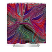 Fluid Motion 6 Shower Curtain