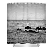 Fluid Solitude Shower Curtain