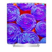 Fluorescent Cupcakes 1 Shower Curtain