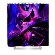 Fluorescent Passions Abstract Shower Curtain