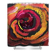 Fluorescent Rose Shower Curtain