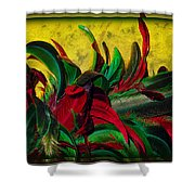 Flurry Of Feathers Shower Curtain