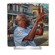 Flute Musician In New Orleans Shower Curtain