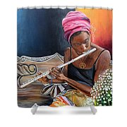 Flute Player Shower Curtain