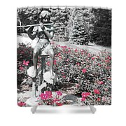 Flute Player - Two Toned Shower Curtain