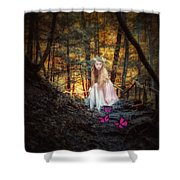 Flutterby Trail Shower Curtain