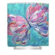 Fluttering Jewel Shower Curtain