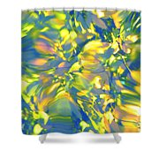 Fluttering Of Color Shower Curtain