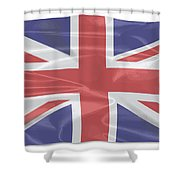 Fluttering Silk Union Jack Shower Curtain