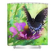 Fluttering Wings Of The Butterfly Shower Curtain