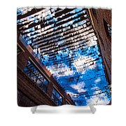 Flux Night Papers Shower Curtain