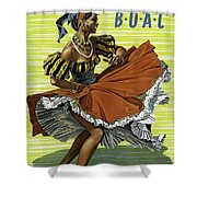 Fly B O A C To Caribbean Shower Curtain