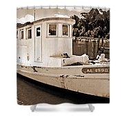 Fly Creek Work Boat Shower Curtain
