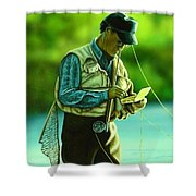 Fly Fisher II Shower Curtain