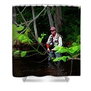 Fly Fisher Shower Curtain