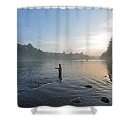 Fly Fishing 2 Shower Curtain