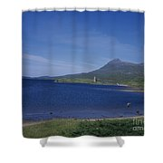 Fly Fishing  By Ardvreck Castle Loch Assynt Scotland Shower Curtain