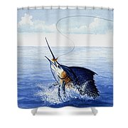 Fly Fishing For Sailfish Shower Curtain