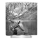 Fly Fishing In A Mountain Lake Shower Curtain